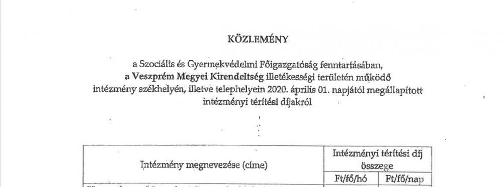 Közlemény - Szociális és Gyermekvédelmi Főigazgatóság Veszprém Megyei Kirendeltsége