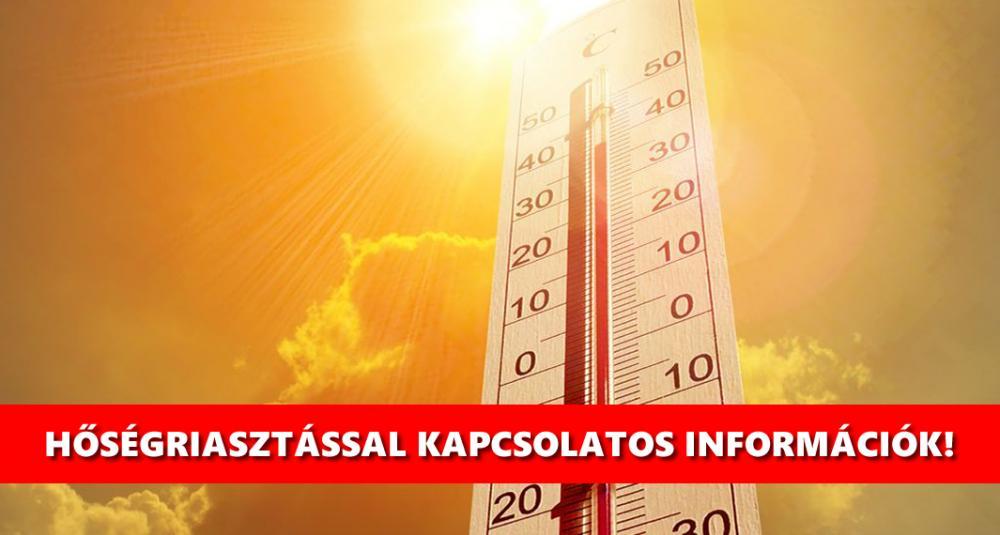 Harmadfokú hőségriasztás van érvényben 2021.07.30 24 óráig