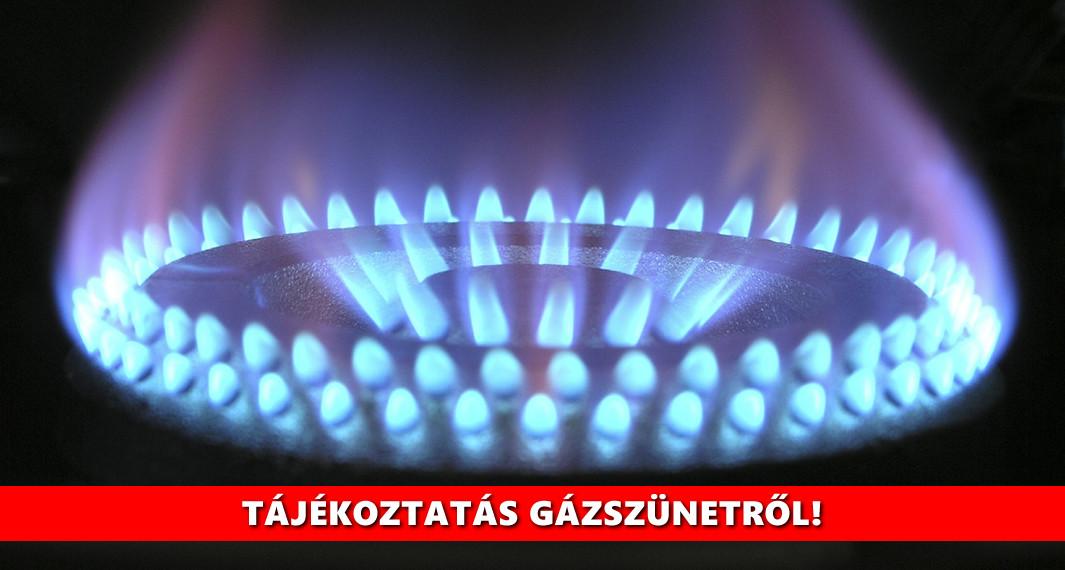 Értesítés gázszünetről (2021.08.18)